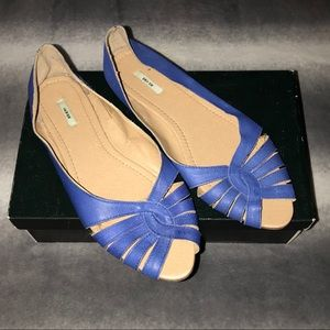 Urban Outfitters Cobalt Blue Strappy Flats